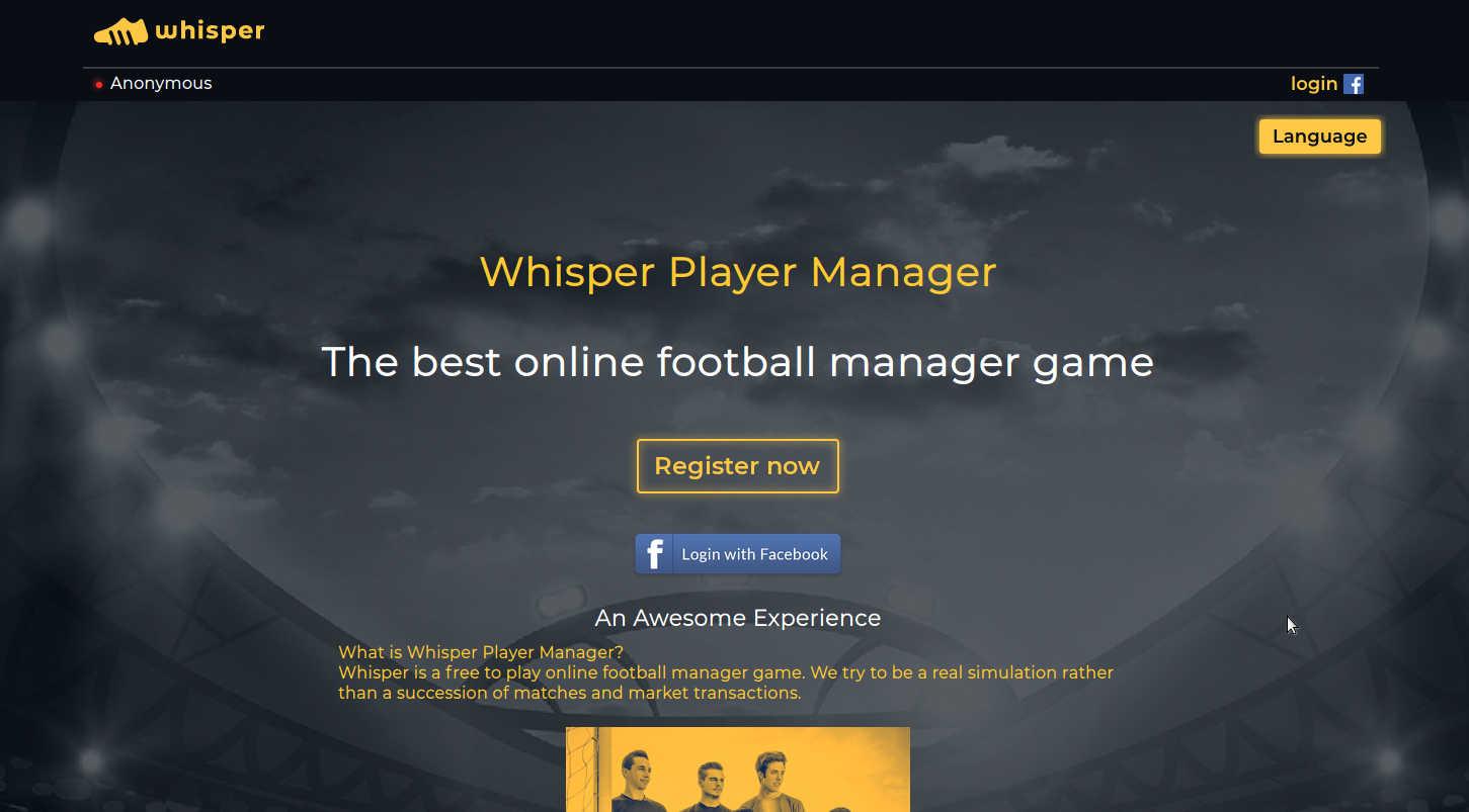 Whisper Player Manager